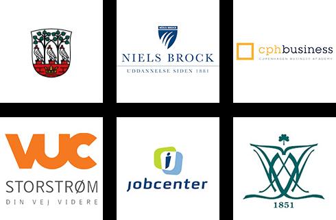 Logoer, Frederiksberg, Niels Brock, Jobcenter, CPH Business