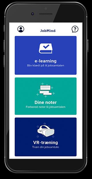 Screenshot af JobMind app