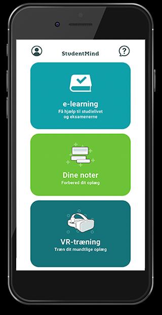 StudentMind app på telefon